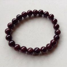 Garnet-Bracelet-Natural-Semi-Precious-Stone-Bracelet-8Mm-Pro-Handmade