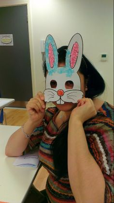 Modelling the bunny mask.