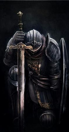 Tattoos Discover Art of Dark Souls: Photo Medieval Fantasy, Dark Fantasy, Fantasy Art, Medieval Knight, Arte Dark Souls, Crusader Knight, Christian Warrior, Warrior Tattoos, Angel Warrior Tattoo
