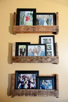 Rustic reclaimed pallet wood picture shelf or by AtomizedConcepts, $40.00