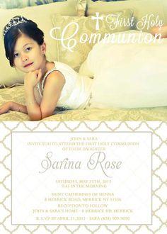 Communion Baptism Dedication Christening Invitation by Asapinvites, $15.00