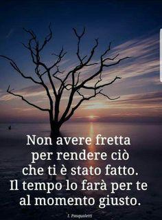 Non avere fretta . Sad Quotes, Qoutes, Love Quotes, Verona, Cogito Ergo Sum, Italian Quotes, Quotes About Everything, Life Rules, Dalai Lama