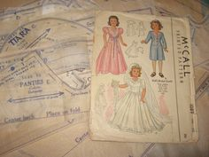 ORIGINAL Doll Clothes PATTERN 1089 for 22 inch Little Lady Dolls by Effanbee #McCalls