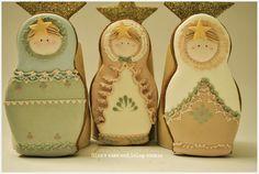 Winter Matryoshka Dolls Cookies