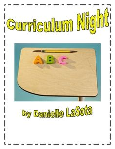 Curriculum and Parent Night Curriculum Night, Kindergarten Curriculum, Beginning Of Kindergarten, Beginning Of The School Year, Parent Night, Family Night, Classroom Organization, Classroom Ideas, Teacher Resources