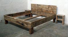 Betten - Individuelles Design-Bett aus Bauholz 200 x 200 - ein Designerstück von up-cycle bei DaWanda