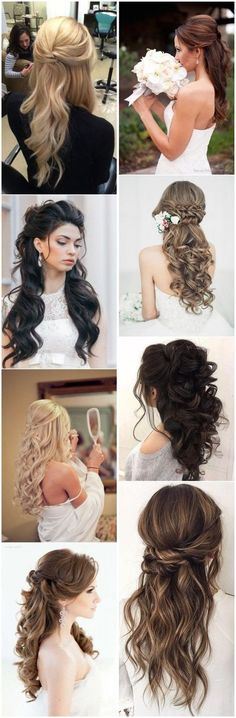 Half Up Half Down Wedding Hairstyles you may love