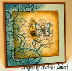 Great tutorial as well!  Supplies: SU Soft Sky card stock, Tim Holtz Distress Ink Faded Jeans, White Gel Pen, SU Not Quite Navy Marker, Sponge