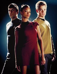 Star Trek Into Darkness: Jim, Spock, & Nyota Uhura