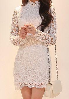Crochet Cutout Dress