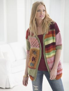 Cardigan Of Many Colors FREE PATTERN from Lion Brand