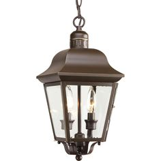 Progress Lighting Andover 15.87 In Antique Bronze Hardwired Outdoor Pendant  Light