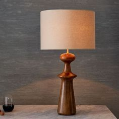 Turned Wood Table Lamp - Tall | west elm | Master or guest bedrooms