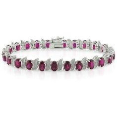 Silver Created Ruby and Diamond Tennis Bracelet  http://electmejewellery.com/jewelry/bracelets/silver-created-ruby-and-diamond-tennis-bracelet-couk/