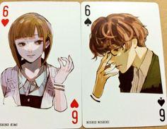 Tarot cards with Kimi and Nishiki from Ishida.