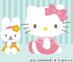 Hello Kitty Images, Hello Kitty Wallpaper, Sanrio Hello Kitty, Little Twin Stars, My Melody, Kawaii, Bows, Illustration, Cute