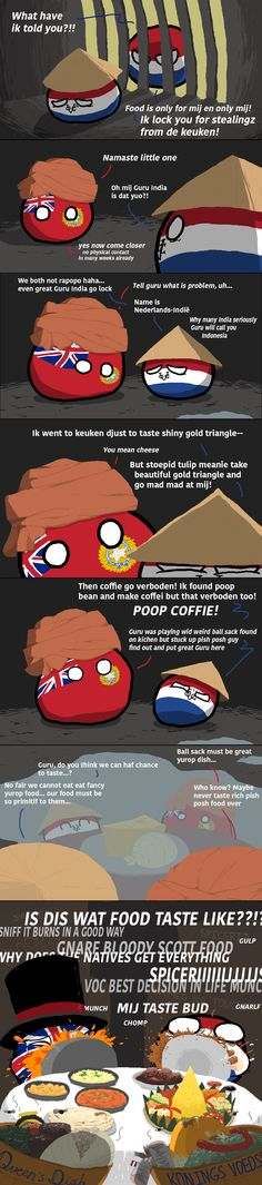 Spice Trade Motive (Indonesia, India, UK, Netherlands) by kablamode  #polandball #countryball