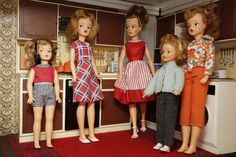 Tammy type dolls in Sindy Country Manor House