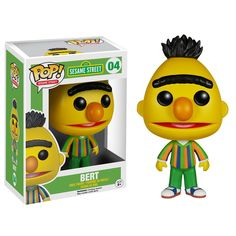 This is a Bert POP Vinyl figure that is produced by our favorite folks over at Funko. Bert is a superstar in the world of Sesame Street and many of us grew up watching him and Ernie on television. It'