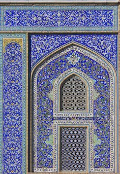Tiles of the Sheikh Lutf Allah Mosque; Isfahan, Iran.