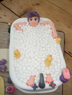 40th bath cake   do you think she looks relaxed enough?   liz stevens   Flickr