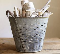 PB Found Olive Bucket #potterybarn - $149 - I found these at my local Garden Stone Store yesterday for $65!!!