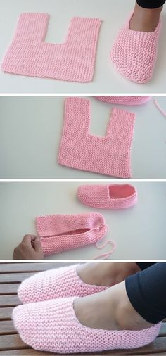 Super Easy Slippers to Crochet or to Knit – Design Peak Super Easy Slippers to Crochet or to Knit – Design Peak Hausschuhe Super Easy Slippers to Crochet or to Knit - Love Amigurumi Knitting Designs, Knitting Patterns, Sewing Patterns, Crochet Patterns, Crochet Designs, Crochet Slipper Pattern, Crochet Ideas, Blanket Patterns, Easy Knitting Ideas