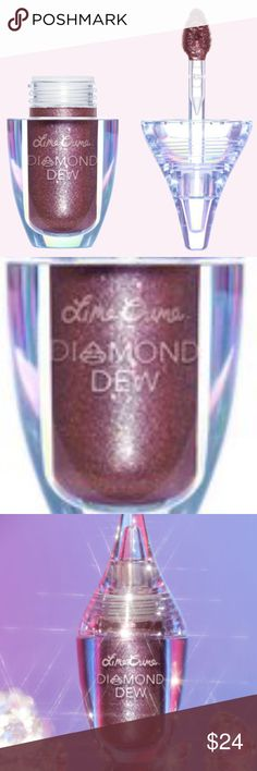 "BNIB LIME CRIME VISION DIAMOND DEW LIQUID GLITTER No trades. BNIB. GUARANTEED AUTHENTIC LIME CRIME ""DIAMOND DEW EYESHADOW"" IN SHADE ""VISION"". Sparkle and shine, baby! Diamond Dew is a lid topper that brings the effect of sparkling diamonds to your eyes.Packed with reflective particles that instantly add that OMG! factor to your makeup. Lightweight, zero-fallout formula dries to a smudge-proof, crease-proof finish that lasts and lasts. Can be worn on top of eyeshadow or over bare lids, cheeks…"