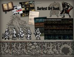 Tyler Sigman is raising funds for Darkest Dungeon by Red Hook Studios on Kickstarter! Darkest Dungeon is a challenging gothic roguelike RPG about the psychological stresses of adventuring. Game Concept, Concept Art, Roguelike Rpg, War Band, 2d Game Art, Darkest Dungeon, Fashion Painting, Environmental Art, Fantasy Characters