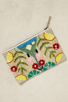 Martini Beaded Pouch anthropology.com