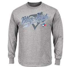 MLB Men's Basic Long Sleeve T-Shirt, Steel Heather - http://bandshirts.org/product/mlb-mens-basic-long-sleeve-t-shirt-steel-heather/