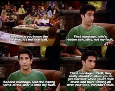 Ross Geller, the divorce force