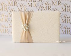 Wedding Guest Book Custom Made to Order by jamiekimdesigns on Etsy