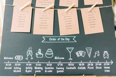 Chalkboard Order of The Day | Images by Sarah-Jane Ethan Photography