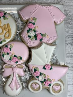 Mother's Day Cookies, No Egg Cookies, Fancy Cookies, Cute Cookies, Royal Icing Cookies, Birthday Cookies, Cupcake Cookies, Cookie Party Favors, Baby Shower Party Favors