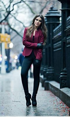 Look: Camila Coelho - Blazer Vinho