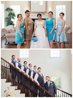 Bridal Party at Milestone Krum Wedding by brittanybarclay.com