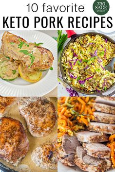 10 delicious favorite keto pork recipes that are easy to make and sure to become a regular part of your family's low carb menu planning. Try one of these homemade pork recipes today or pop over to the Keto Ranch Pork Chops, my absolute favorite.#easyrecipes #ketopork #porkrecipes #onthetable #dinner Goat Cheese Recipes, Low Carb Chicken Recipes, Low Carb Dinner Recipes, Pork Recipes, Keto Recipes, Low Carb Menu Planning, Low Carb Menus, Mustard Pork Chops, Ranch Pork Chops