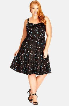 City Chic 'Cute Kite' Print Sundress (Plus Size) available at #Nordstrom