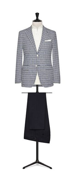 Tailor Made London Spring/Summer 2018 Blue-White bouclé check ode: 8373