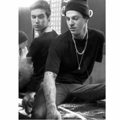 jesse rutherford and zach abels.  the nbhd//the neighbourhood  zflexing//olddirtytshirt