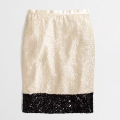 NWT J.Crew Color Block Sequin Skirt BNWT. Purchased at J. Crew Factory J. Crew Skirts