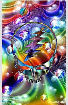 Steal your face Grateful Dead Shows, Grateful Dead Image, Grateful Dead Poster, Grateful Dead Wallpaper, Fractal Art, Fractals, Forever Grateful, Hippie Art, Psychedelic Art