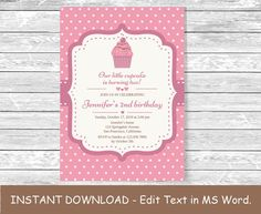 10 best diy birthday invitations in word images on pinterest ms