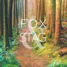 Fox & Stag brand identity by Bridget McLaughlin. #typography #branding #identity #promotion #madewithstudio