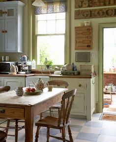 Cool kitchen made from old railroad station. ♥