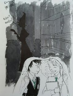 This is one of the scenes in Harry Potter and the Cursed Child. McGonagall at the back holding the Marauders' Map and there's Albus & S. Day 30 - Albus Potter and Scorpius Malfoy Harry Potter Cursed Child, Harry Potter Ships, Harry Potter Anime, Harry Potter Fan Art, Harry Potter Fandom, Scorpius Malfoy, Scorpius And Albus, Draco Malfoy, Darry