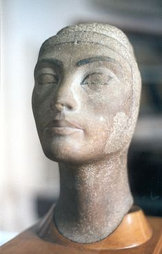 Unfinished Head of Queen Nefertiti. Egyptian Museum of Cairo.