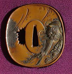 TSUBA   Raishoken Morihira Daisho Tsuba