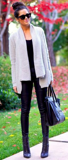 60 Great New Winter Outfits On The Street - Style Estate - Fashion Mode, Look Fashion, Womens Fashion, Fall Fashion, Fashion 2014, Fashion Black, Fashion Trends, Fall Winter Outfits, Autumn Winter Fashion